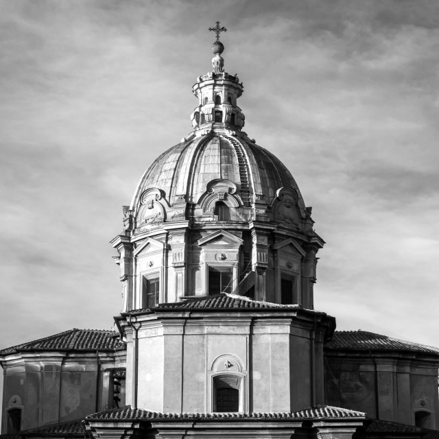 """Rear Of Church Of Santi Luca E Martina 3"" stock image"