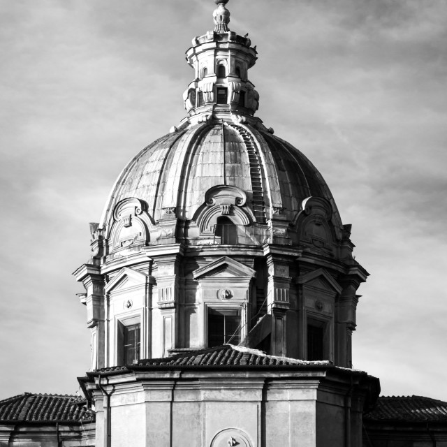 """Rear Of Church Of Santi Luca E Martina 5"" stock image"