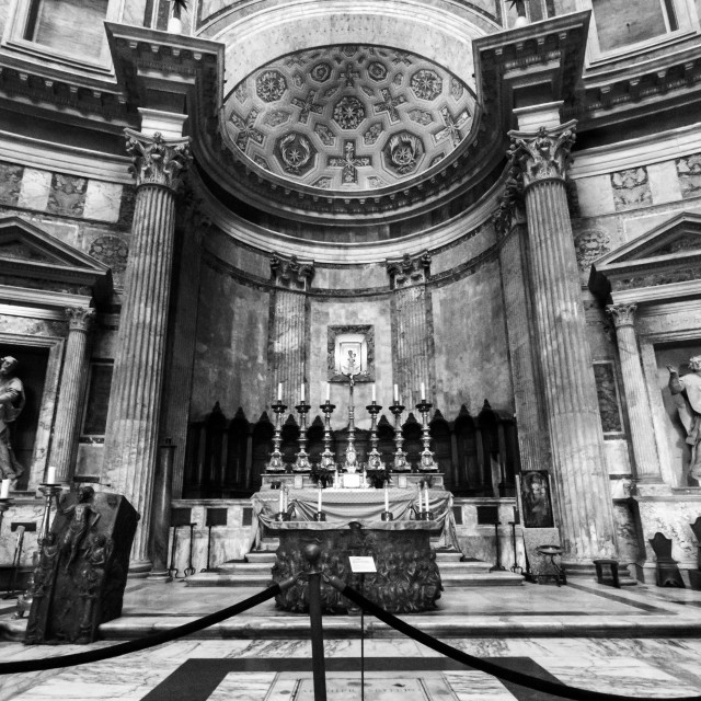 """Inside The Pantheon 1"" stock image"