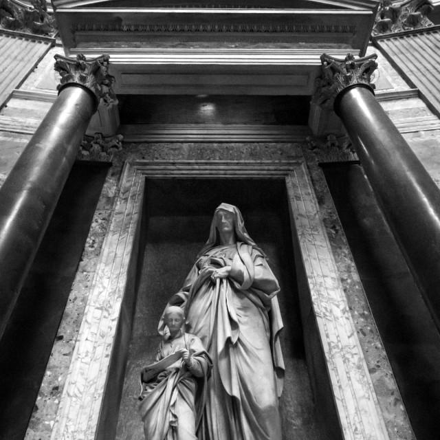 """Inside The Pantheon 3"" stock image"