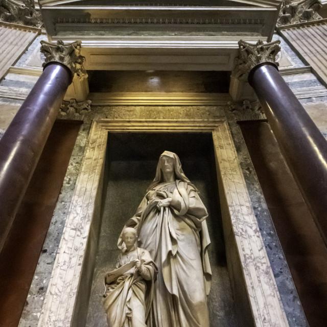 """Inside The Pantheon 4"" stock image"