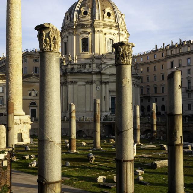 """""""Chiesa del Santissimo Nome di Maria al Foro Traiano 2"""" stock image"""
