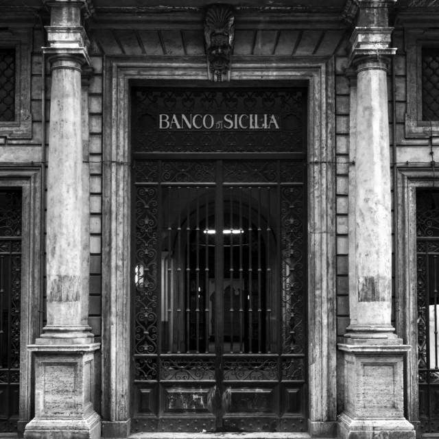"""""""Banco Di Sicilia 1"""" stock image"""