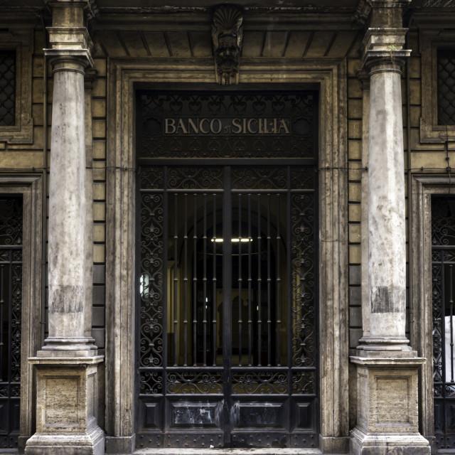 """""""Banco Di Sicilia 2"""" stock image"""