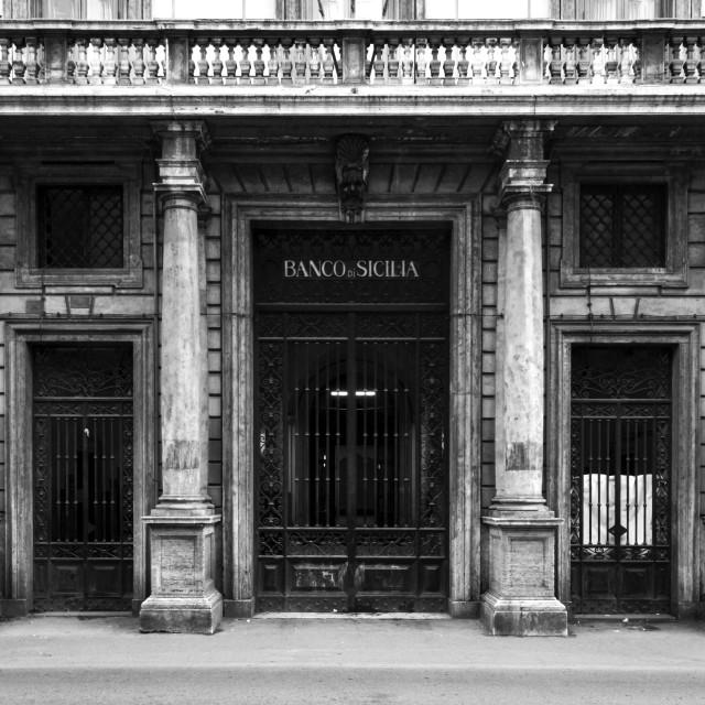 """""""Banco Di Sicilia 3"""" stock image"""
