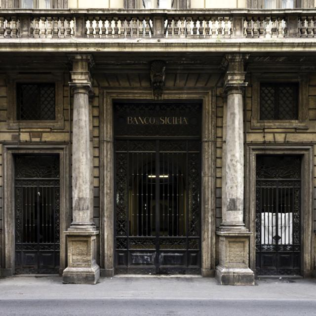 """""""Banco Di Sicilia 4"""" stock image"""