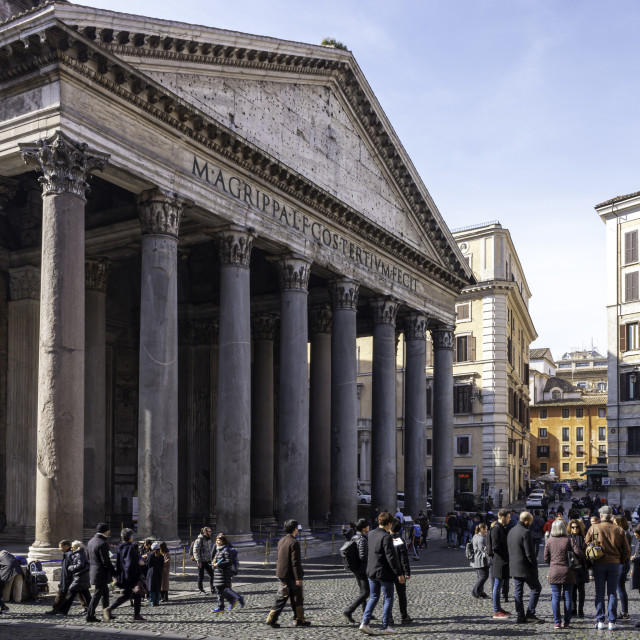 """The Pantheon Exterior 2"" stock image"