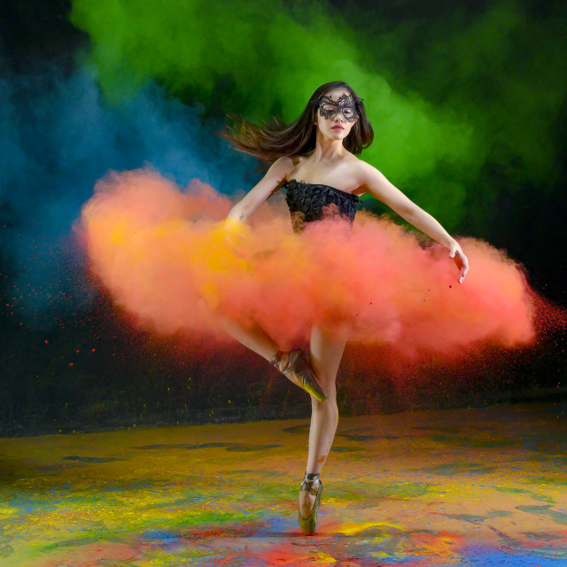 """Masked Ballerina 02"" stock image"
