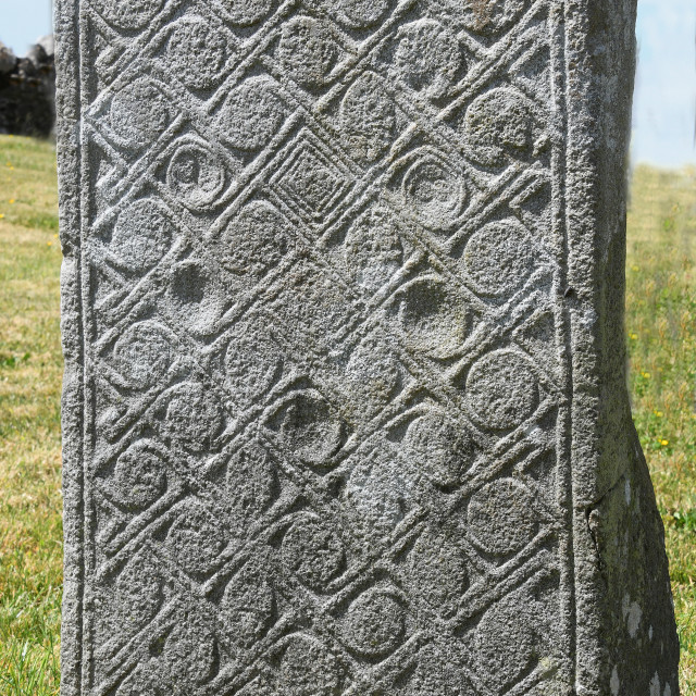 """""""Lemanaghan Grave slab, County Offaly"""" stock image"""