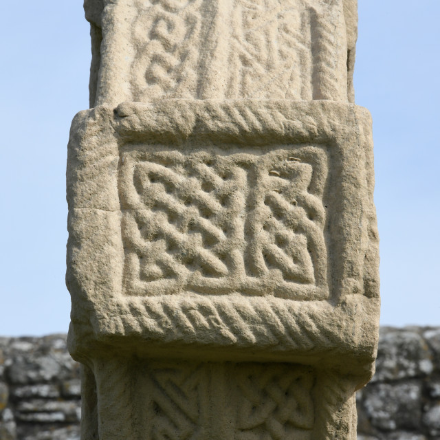 """""""Carving detail, High Cross, Clonmacnoise"""" stock image"""