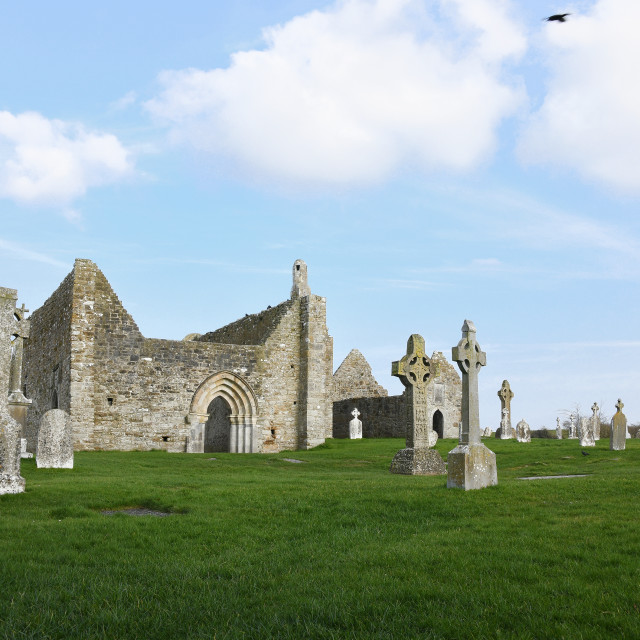 """""""Clonmacnoise Monastic Site"""" stock image"""