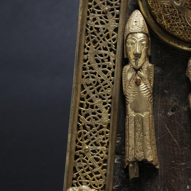 """11th Figure, Saint Manchan's Shrine"" stock image"