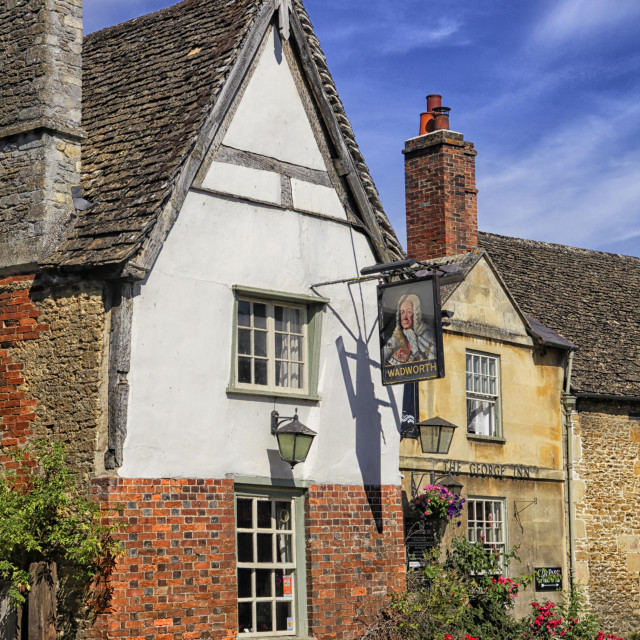 """""""Medieval The George Inn , Lacock, England"""" stock image"""