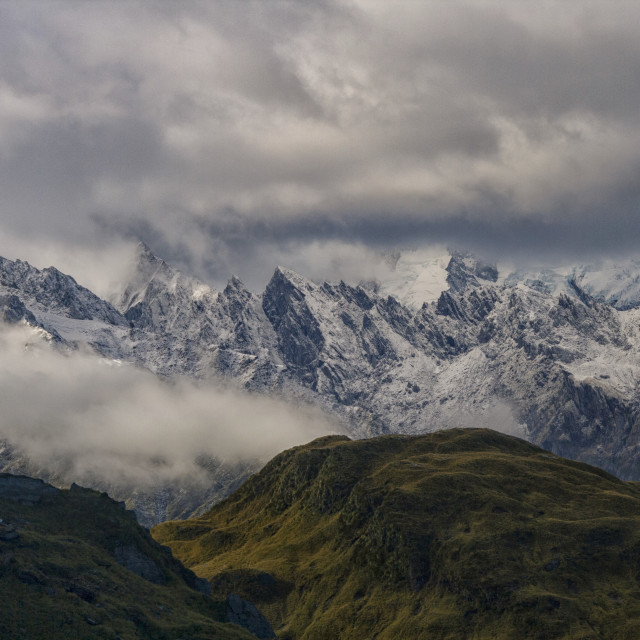 """Franz Joseph glacier in New Zealand"" stock image"