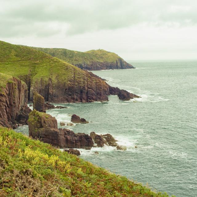 """Pembrokeshire coastline in Wales"" stock image"