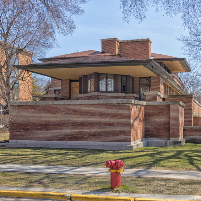 """""""Frank Lloyd Wright's Robie House in Chicago"""" stock image"""
