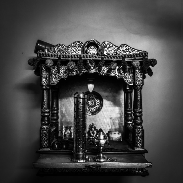 """""""small temple for house brass"""" stock image"""