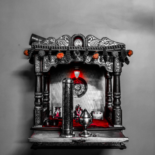 """""""small temple for house silver"""" stock image"""
