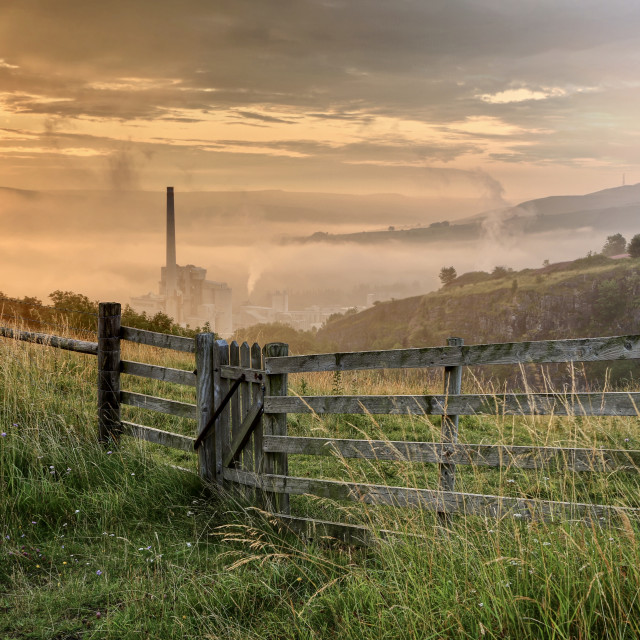"""""""Derbyshire cement works"""" stock image"""