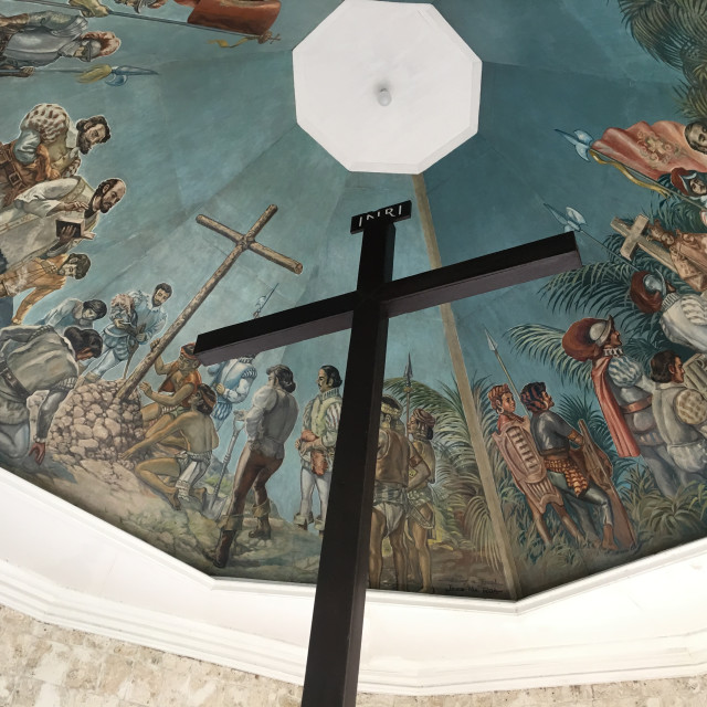 """Photo of the Magellan's Cross in Cebu City Philppines"" stock image"