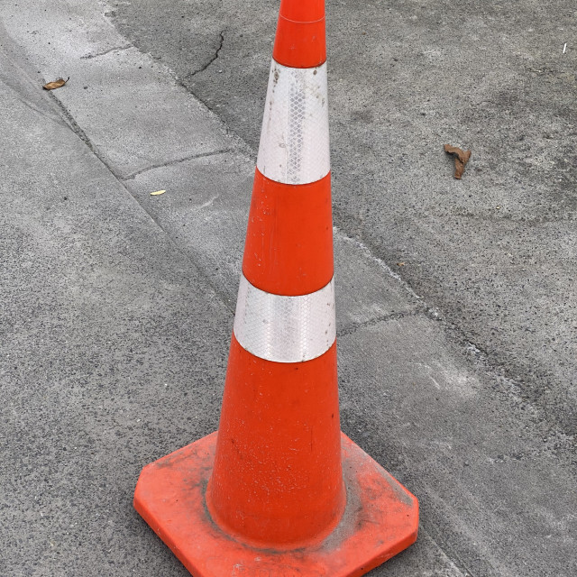 """Photo of a traffic cone or road cone"" stock image"