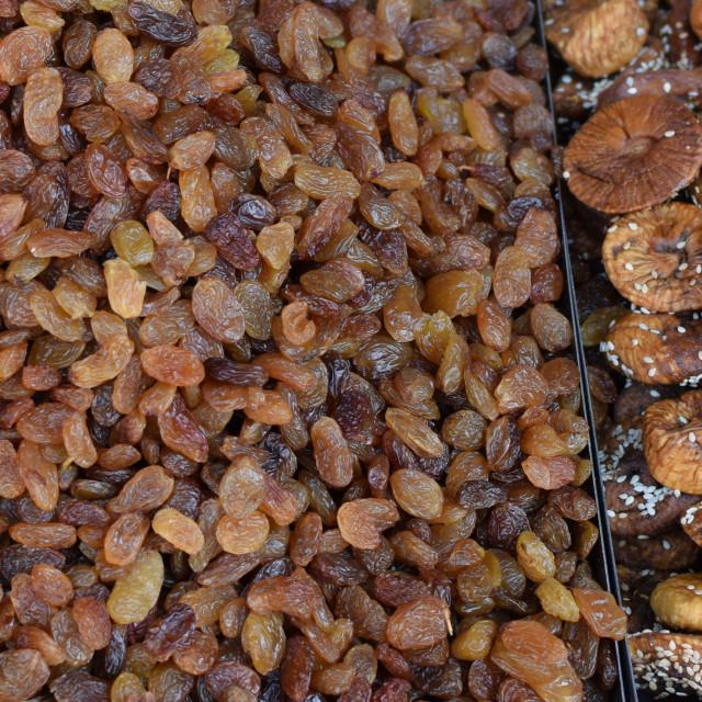 """""""raisins dried fruit background"""" stock image"""