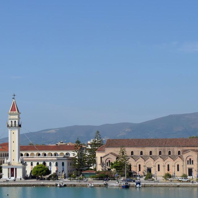 """view of zakynthos town"" stock image"