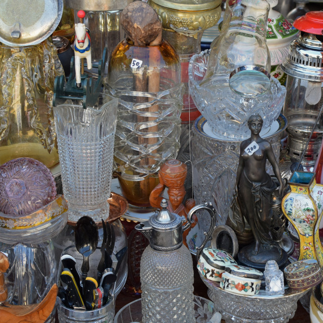 """""""vintage decorative objects antiques store"""" stock image"""