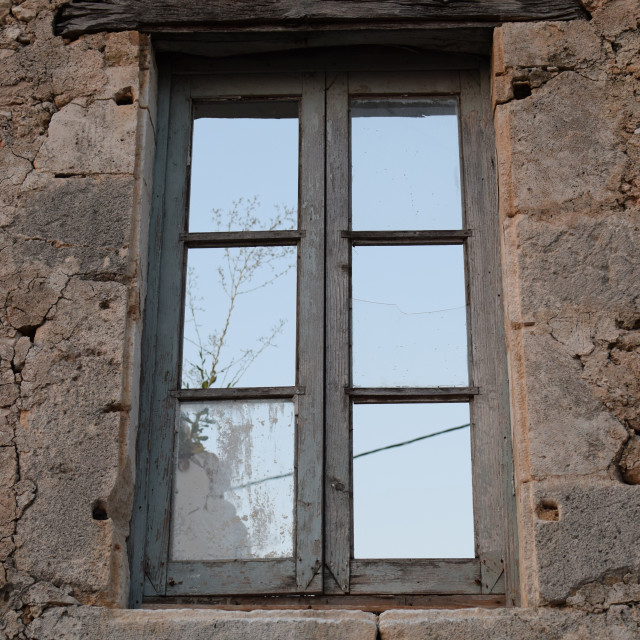 """""""old window with wooden lintel"""" stock image"""