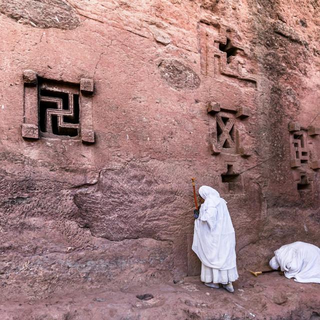 """Pilgrimage in Lalibela"" stock image"