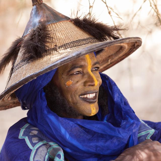 """""""Fulani nomad portrait"""" stock image"""