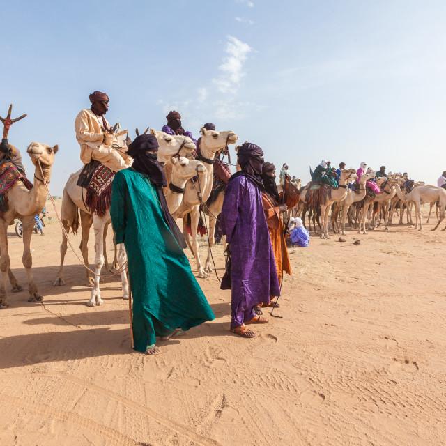"""""""Sahara Tuaregs"""" stock image"""