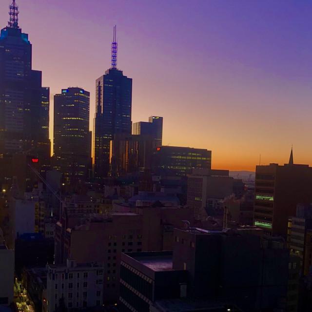 """Melbourne Sunrise"" stock image"