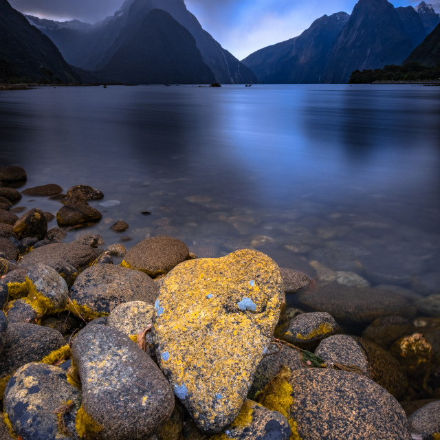 """Heart of Milford Sound"" stock image"