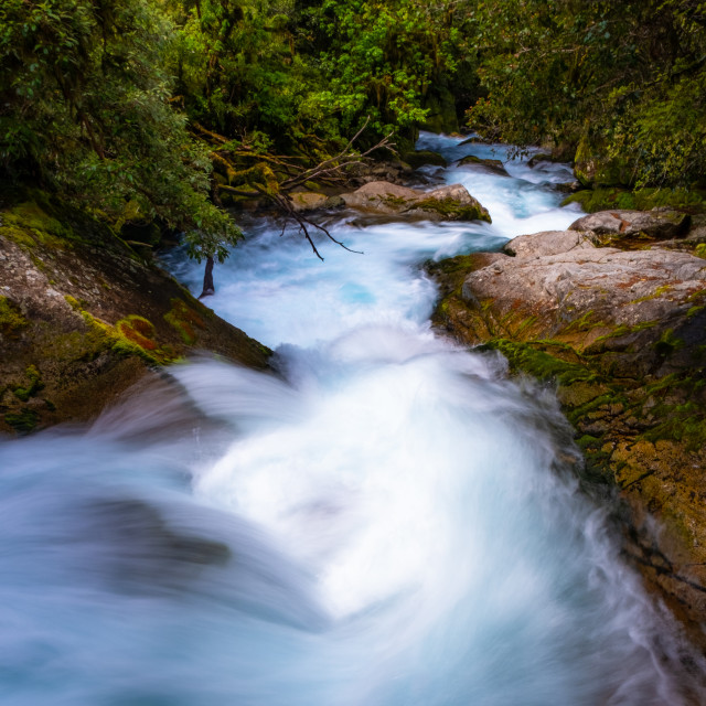 """Vibrant River Flow"" stock image"