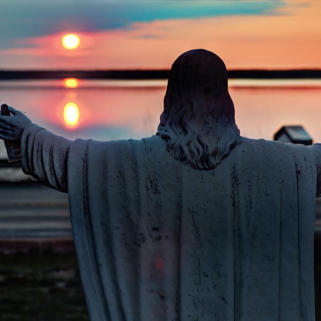 """""""Sunrise at Saints Martha & Mary"""" stock image"""