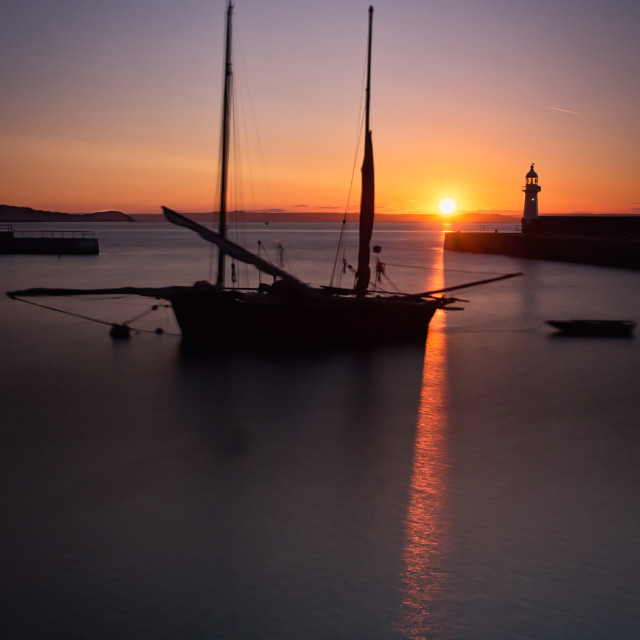"""""""Mevagissey harbour, Cornwall."""" stock image"""