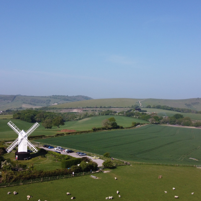"""Jill windmill on Clayton Hill Sussex."" stock image"