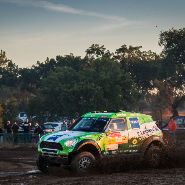 """A Mini All4Racing off-road car during the Baja TT Portalegre 500 2019"" stock image"