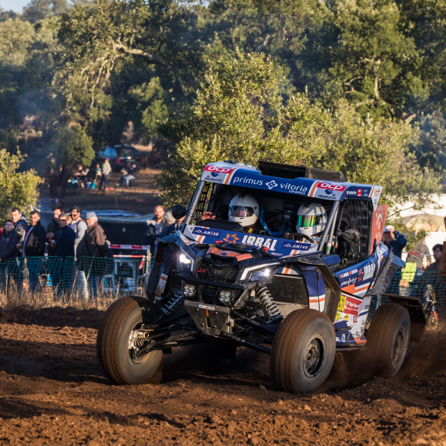 """A Can-Am Maverick X3 off-road car during the Baja TT Portalegre 500 2019"" stock image"