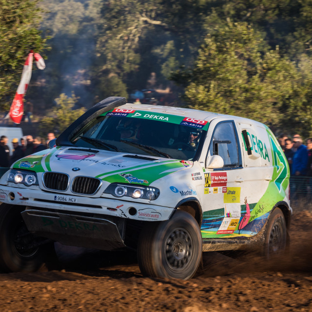 """A BMW X5 CC pff-road car during the Baja TT Portalegre 500 2019"" stock image"