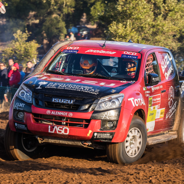"""An Isuzu D-Max off-road car during the Baja TT Portalegre 500 2019"" stock image"