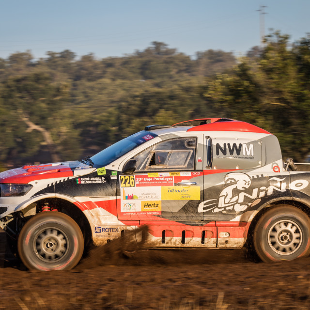 """A Ford Ranger off-road car during the Baja TT Portalegre 500 2019"" stock image"