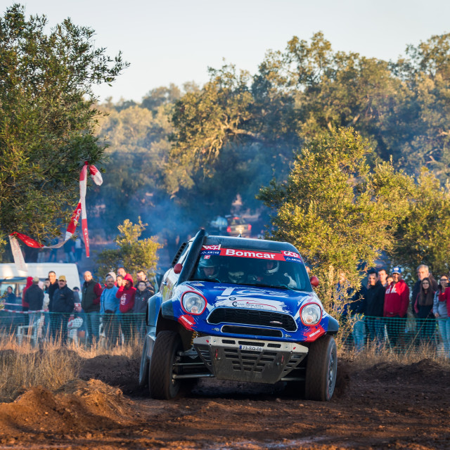 """A Mini Paceman off-road car during the Baja TT Portalegre 500 2019"" stock image"