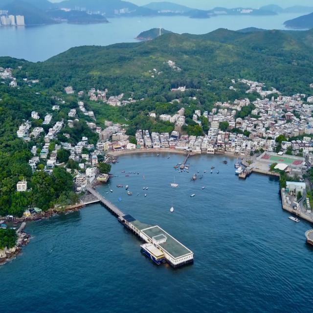 """Yung Shue Wan, Lamma Island"" stock image"