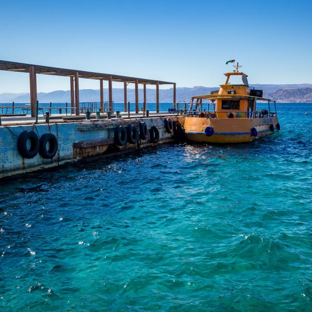 """Aqaba, Jordan, main boulevard view"" stock image"
