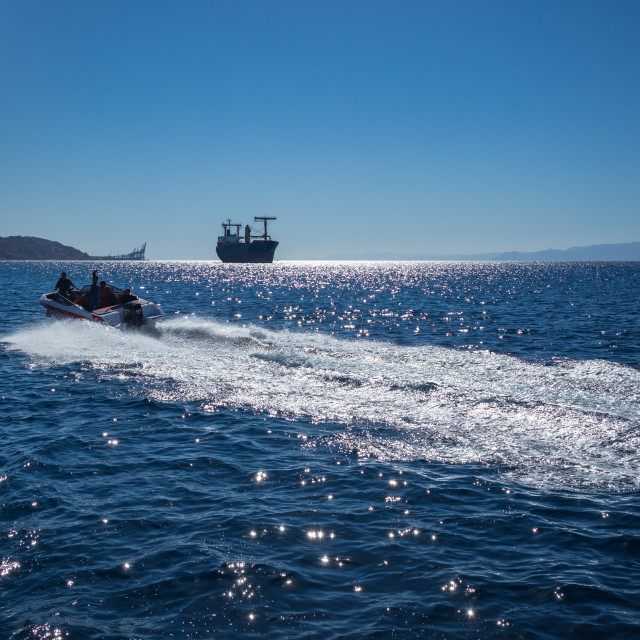 """Aqaba, Jordan, glass boat tours"" stock image"