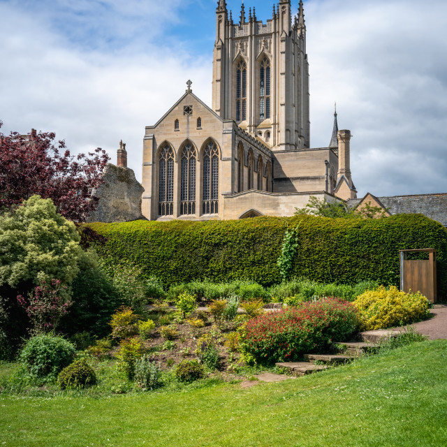 """""""Millennium Tower and Abbey Gardens"""" stock image"""