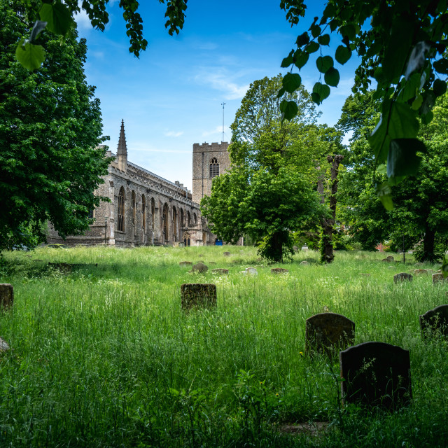 """""""St Mary's Church in Bury St Edmunds"""" stock image"""