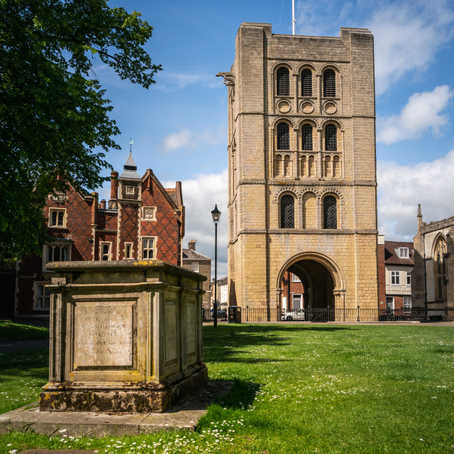 """""""Norman Tower in Bury St Edmunds"""" stock image"""